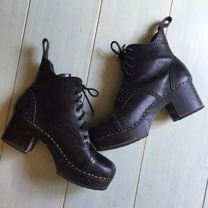 9a58bd6227c7 Swedish Hasbeens Shoes - Swedish Hasbeens Grandma Lace Up Plateau Boot